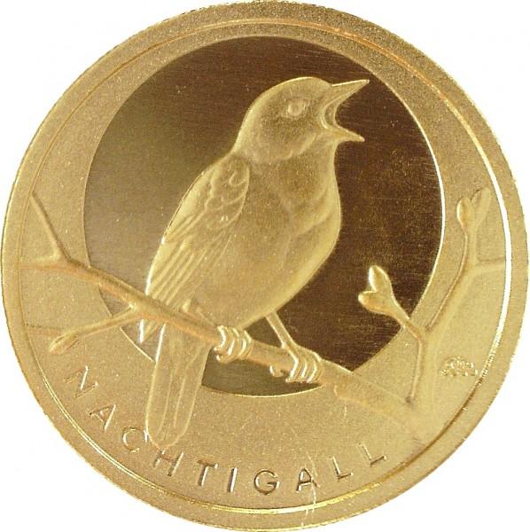 """20 Euro (1/8 oz) - (J) """"Nachtigall"""" Heimische Vögel"""
