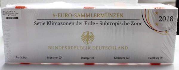 5 Euro PP Set - Subtropische Zone (A-J)