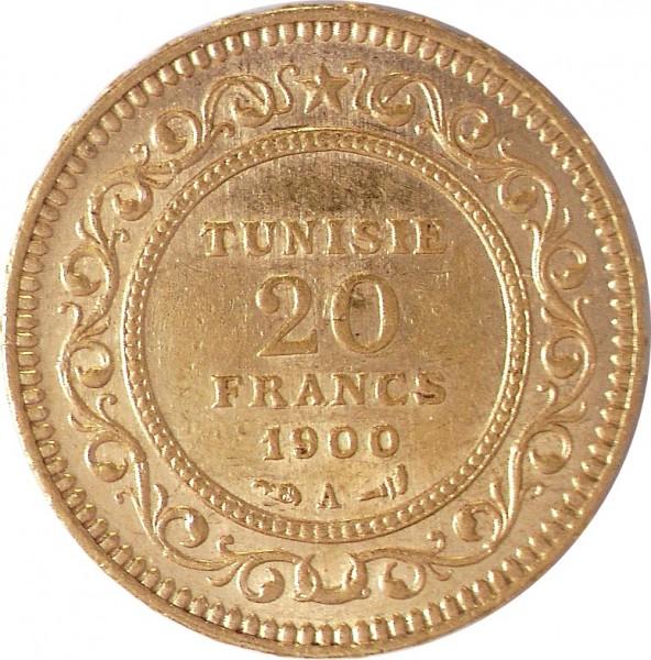20 Francs - Ali Bei 1882-1902 (A.H. 1299-1320)